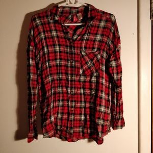 Red flannel button down